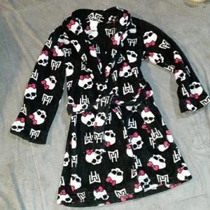 Monster High girls 7/8 black bathrobe